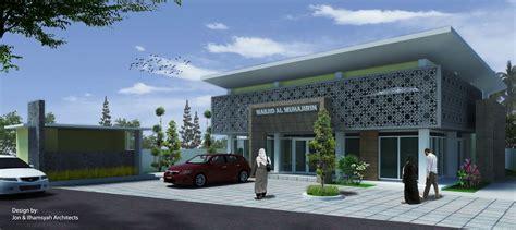 desain teras masjid jonasibiarsitek masjid al muhajirin