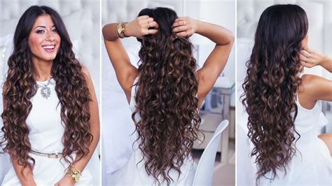 wand for long thick hard to curl hair perfect curls achieved with curling wand on super long