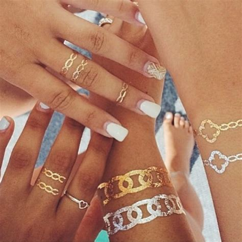metallic tattoos wedding trends flash tattoos jewelry inspired tattoos