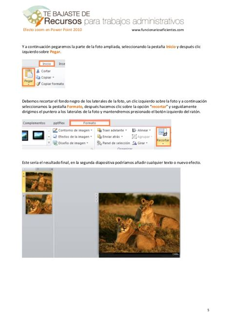 tutorial de powerpoint 2010 como hacer efecto zoom en powerpoint 2010 tutorial en