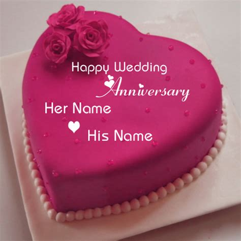 Wedding Anniversary Wishes Editing by Write Your Name On Anniversary Cakes Pictures Edit