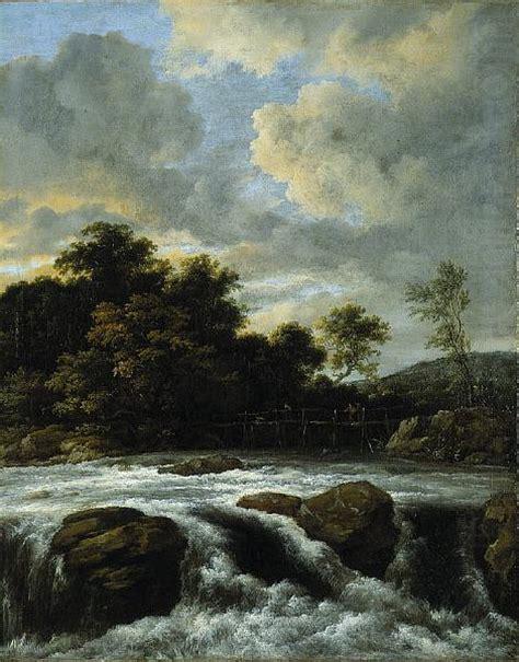 Landscape With Waterfall Jacob Isaacksz Van Ruisdael