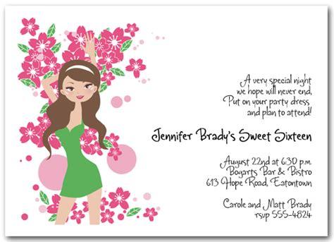 16 year birthday card template 16th birthday invitation