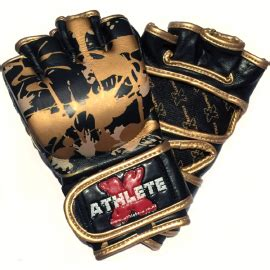 Athlete X Gold Splash Mma White Size M L Xl athlete x 100 leather lightweight combat bag gloves