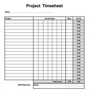 sample project timesheet 6 examples format