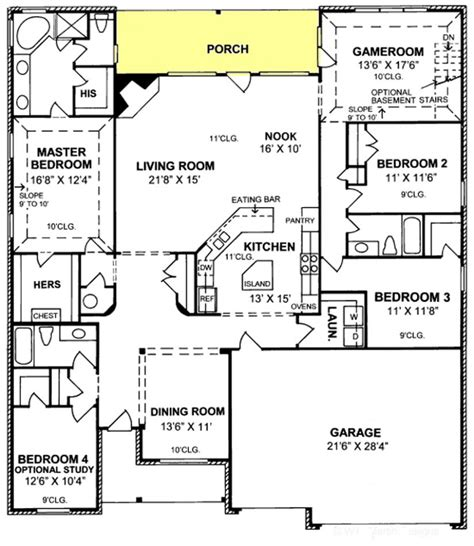 5 bedroom 3 car garage house plans 655764 gorgeous 4 bedroom 3 bath plan with 3 car garage