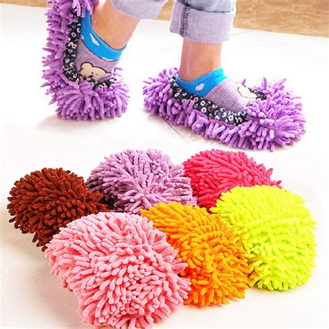 Microfiber Mop Shoes Harga Grosir 2pcs floor dust cleaning slipper multifunction microfiber lazy shoes cover mop cleaner home