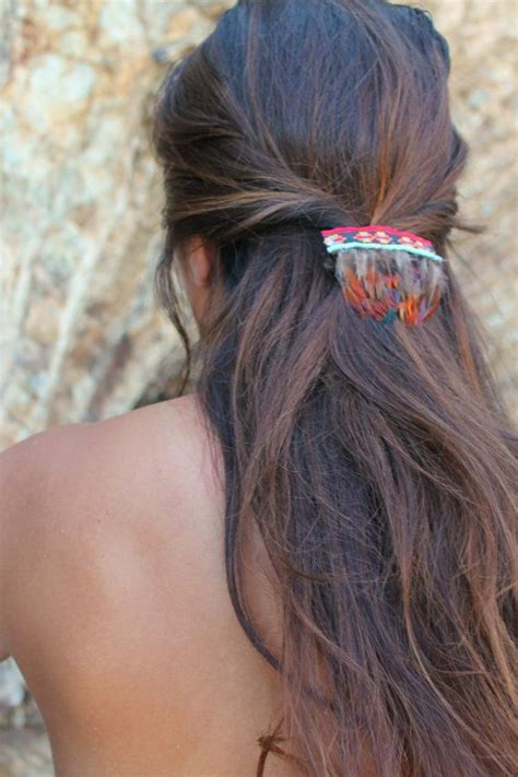native american hair pictures tribal feather barrette native american inspired hair