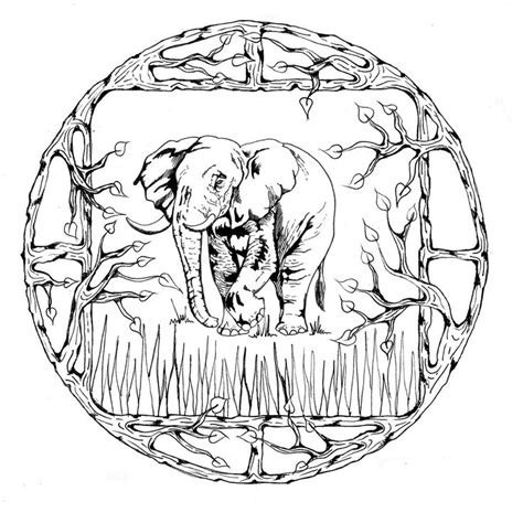 elephant mandala coloring books 17 best images about coloring pages to print elephant on