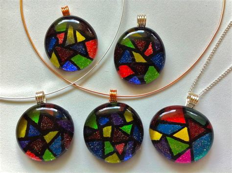 how to make glass pendant jewelry faux stained glass pendant 183 how to make a tile pendant