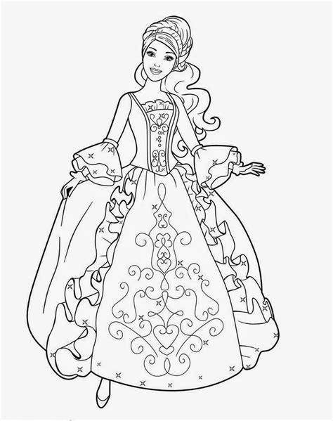 Gambar Mewarnai Kartun Barbie - Kreasi Warna