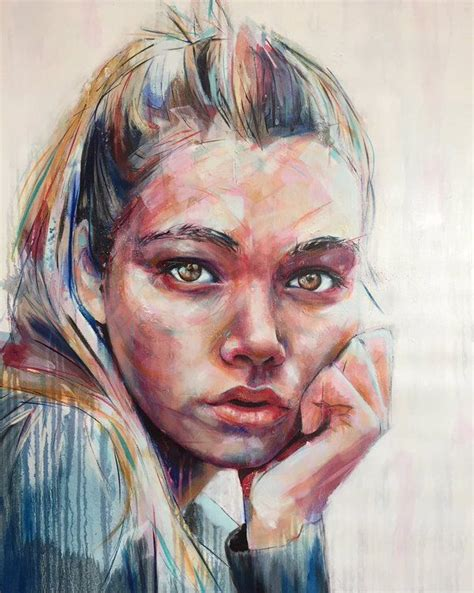 acrylic paint portrait 17 best ideas about abstract portrait on