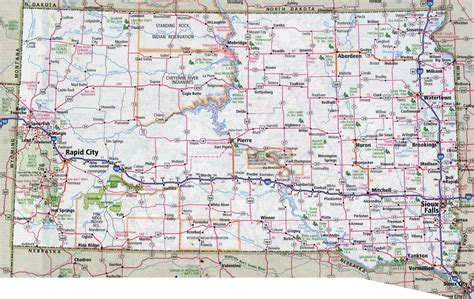 printable south dakota road map large detailed roads and highways map of south dakota with