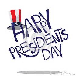 presidents day is a time presidents day lettering stock vector image
