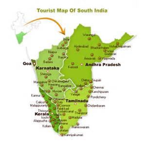 map south south india map world of map