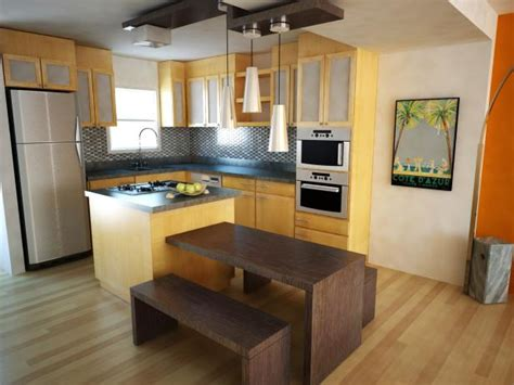 Small Kitchen Layout With Island Small Kitchen Design Ideas Hgtv