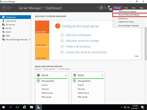for dhcp guide remove windows server 2016 dhcp server with gui