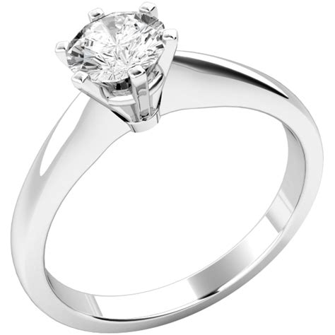 Single Engagement Ring by Single Engagement Ring For In 9ct White Gold