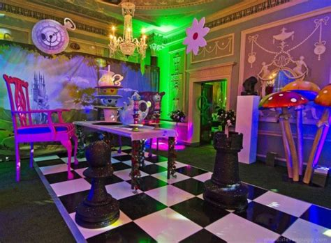 themed party hire fairytale mushroom cluster alice in wonderland party