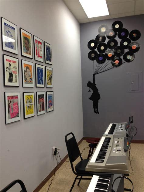 design ideas vinyl records diy music studio decor old sheet music framed little