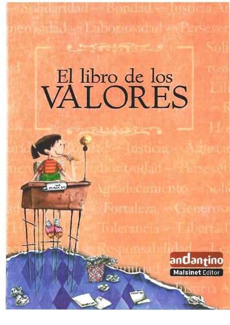 el libro de los 8432306908 el libro de los valores