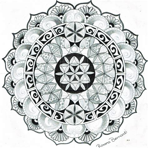 large tattoo designs best large mandala flower design