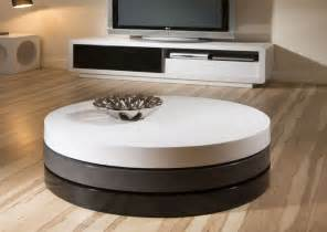 ligthen up everything with modern round coffee table