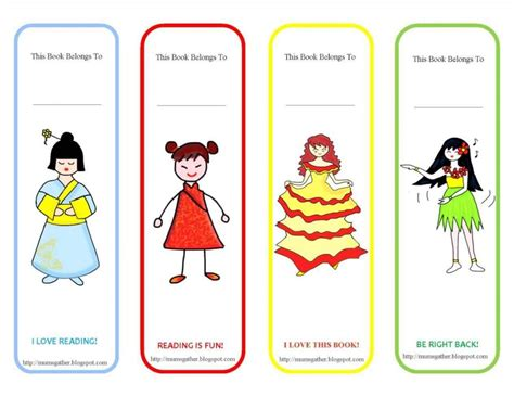 printable girly bookmarks cute bookmarks printable template update234 com