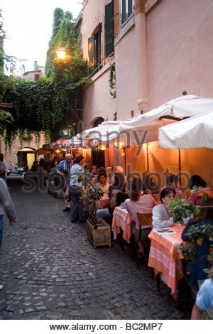 best restaurant in trastevere rome italy restaurants in trastevere rome italy stock photo