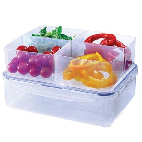 Lock Lock Gift Set Plastic Food Container 4 Item 1 lock lock food storage 3 9l plastic box with 4 compartments