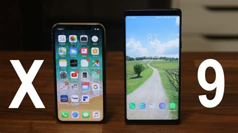 samsung galaxy note 9 vs iphone x and the winner is