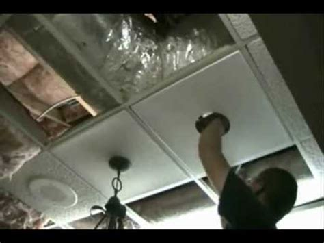 How To Install Lights In Ceiling Light Installation In A Ceiling Tile