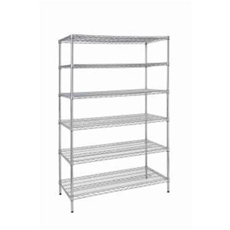 home depot industrial shelving 6 shelf steel commercial shelving unit hd32448rcps the home depot