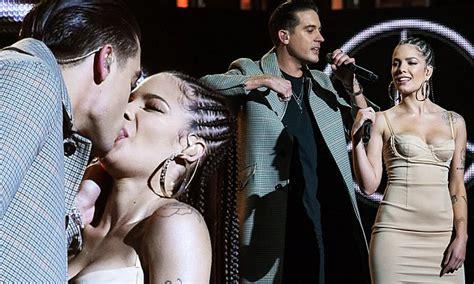 halsey boyfriend halsey and boyfriend g eazy kiss on jimmy kimmel live