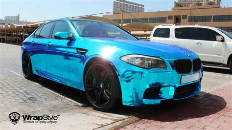 chrome blue wrapstyle premium car wrap car dubai chrome