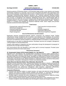 resume of human resources labor law