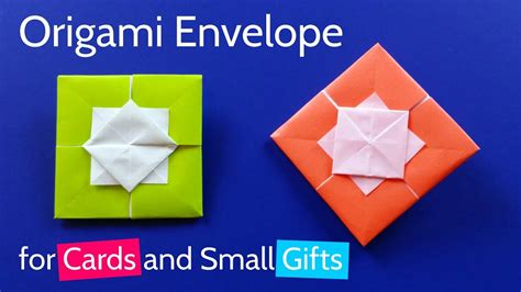 Origami Small Envelope - origami square envelope for greeting card or small gift