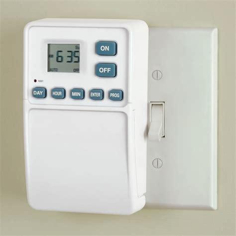 light with timer the light switch timer hammacher schlemmer