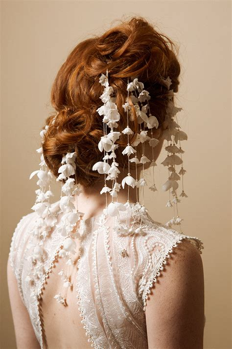 Bridal Flower Hair Pin bridal hair pins hair accessories of the valley
