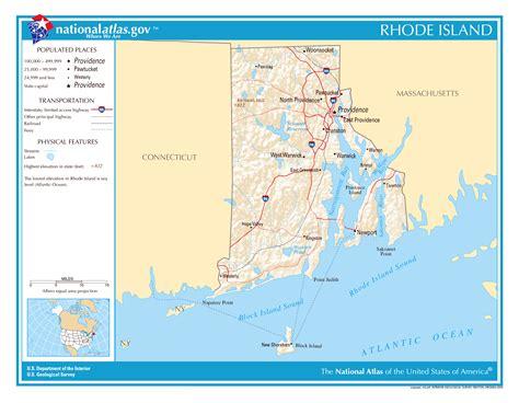 usa map island large detailed map of rhode island state rhode island