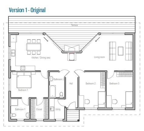 affordable home plans affordable modern house plan ch61 small house ch61 1f 123m 3b house plan in modern style