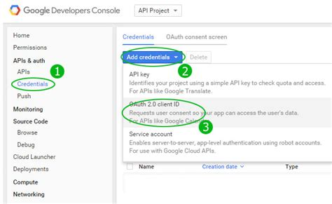 play developer console api creating oauth 2 0 client api sanwebe
