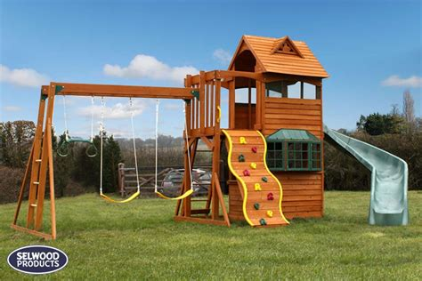 swing house audley deluxe climbing frame with swings slide and monkey