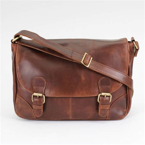 Handmade Leather Satchel - classic leather cross satchel bag by the leather