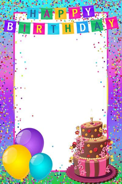 22 best images about happy birthday frames on pinterest