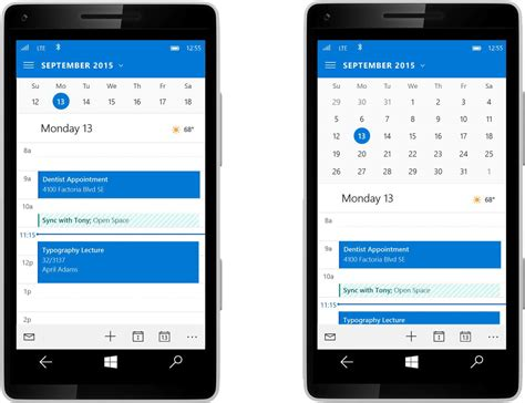 mail mobile mail and calendar app grabs a major update for windows 10