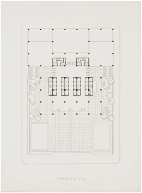 seagram building floor plan ad classics seagram building mies van der rohe archdaily