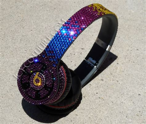Aksesoris Handphone Earphone Headset Color Custom Beat bling beats by dre in custom ombre colors dre headphones beats on sale and beats by dr