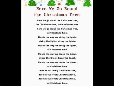 here we go round the christmas tree christmas rhymes