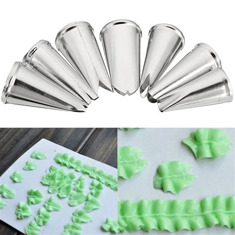 Set Supra7 Stainless 7pcs leaf cupcake decor stainless steel icing piping nozzles set pastry tips at banggood